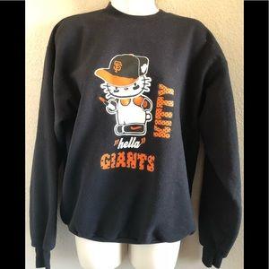 Tops - San Francisco Giants hello kitty sweatshirt.